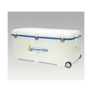 「送料無料/ヤマト便」 伸和 [SHINWA] クーラーBOX レジャークーラーストリーム1000 92L ホワイト クーラーボックス|lamd