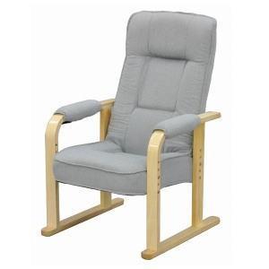 「メーカー直送 代引不可」「組立品」 エイ・アイ・エス 高座椅子 大 NIS-TKZ03 LGY|lamd