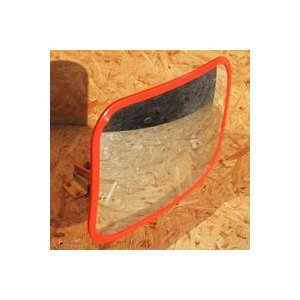 サンケイ カーブミラー POMグラスミラー [角型スタンド式] 「30×22cm」|lamd