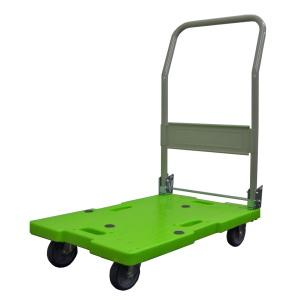 「送料無料」  「メーカー直送」 ナンシン 軽量 樹脂台車 グリーン LSK-111 [LSK111][離島配送不可/代引き不可] 運搬車|lamd