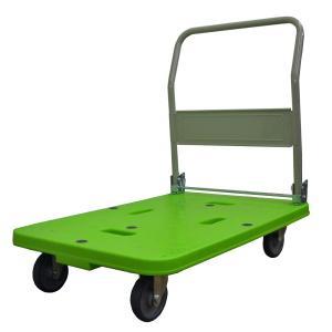 「メーカー直送 代引不可」[離島配送不可] ナンシン 軽量 樹脂台車 グリーン LSK-311[LSK311]|lamd