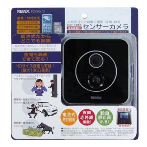 リーベックス SDカード録画式液晶画面付センサーカメラ SD3000LCD 防犯カメラ|lamd