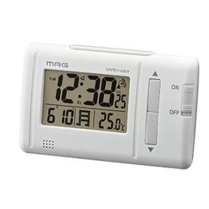 ノア ファルツ T-692 WH-Z 目覚時計  / デジタル電波時計 温度、カレンダー表示付 lamd