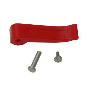 シンワ ストッパーレバー[1]赤・軸棒・ネジセット のび助一方向式用 82100 lamd