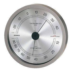EMPEX[エンペックス] スーパーEX高品質温・湿度計 メタリックグレー EX-2727|lamd