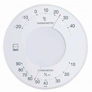 EMPEX[エンペックス] セレナ温・湿度計 ホワイト LV-4303|lamd