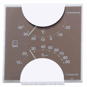 EMPEX[エンペックス] エルム・カラー温・湿度計 グレー LV-4957|lamd