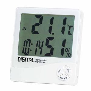 「在庫処分」「在庫限り」  エンペックス デジタル温湿度計 時計 カレンダー付 TD-8140|lamd