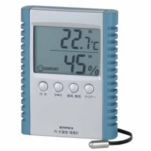 「在庫限り」エンペックス デジコンフォ2 デジタル湿度計 内・外温度計 TD-8172|lamd