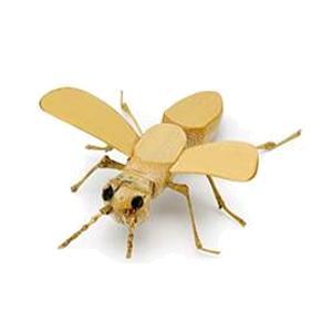 「在庫処分」「数量限定」 「完成品」 イトー オヤジの虫籠 竹細工の昆虫 「蜂・ハチ」|lamd