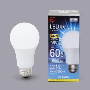 アイリスオーヤマ LED電球 E26 広配光 60形相当 昼白色 LDA7N-G-6T4 lamd