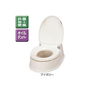 アロン化成 安寿 腰掛便座 簡易設置式洋式トイレ サニタリエース HG両用式 534-113 アイボリー|lamd