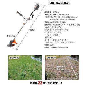 工進 充電式草刈機 U字ハンドル仕様 SBC-3625|lamd|04
