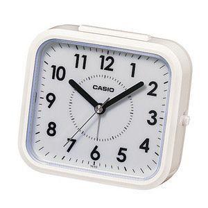 CASIO カシオ 置時計 目覚し時計TQ-272-7JF [TQ2727JF]  ホワイト|lamd