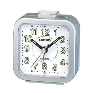 CASIO カシオ 置時計 目覚し時計 TQ-141-8JF [TQ1418JF]  シルバーメタリック|lamd