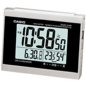 CASIO カシオ 電波目覚し時計 温度・湿度計付き DQD-710J-8JF シルバー|lamd