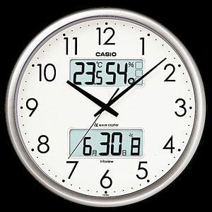 「送料無料」 CASIO カシオ 電波壁掛け時計 ITM-650J-8JF シルバー|lamd