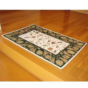 マルナカ 玄関マット ゴブラン織 シャルトル 「60×90cm」  GN-グリーン|lamd