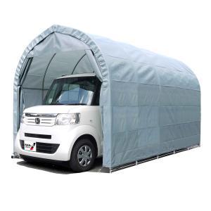 「大型便・時間指定不可」 3梱包南栄工業 パイプ車庫 埋め込み式 軽用 2540UGR|lamd