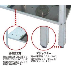 ステンレス アウトドアキッチン ワークテーブル SK-600W ガーデンシンク|lamd|02
