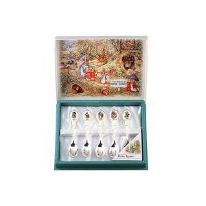 アサヒ テーブルウェアコレクション  ピーターラビット 陶器ワッペンシリーズ  「コーヒースプーン 5本セット」  銀仕上 PW-000|lamd