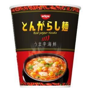 6箱まで1個口 日清のとんがらし麺 うま辛海鮮×12個[ケース販売] lamd