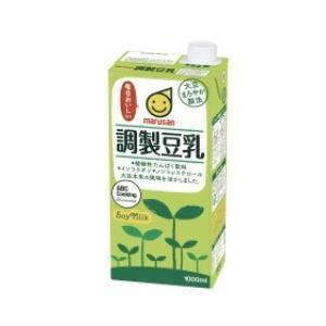 ○4ケースまで1個口○ マルサン調製豆乳 1000ml 紙パック×6個入 [ケース販売] [豆乳] lamd
