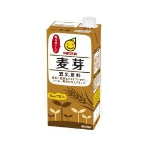 ○4ケースまで1個口○ マルサン 豆乳飲料 麦芽「1000ml」 紙パック×6個入[ケース販売]  豆乳 [送料無料対象外]|lamd