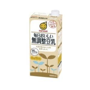 ○4ケースまで1個口○ マルサン 毎日おいしい 無調整豆乳 1000ml×6個[ケース販売] [豆乳]|lamd