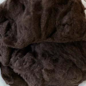 ブラウンヤク 整毛100g <紡毛 紡ぎ 染め 羊毛 フェルト>|lamerr