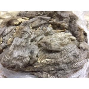 グリージーウール・コリデール グレー/ベージュ <紡毛 紡ぎ 染め 羊毛 フェルト>  予約制|lamerr