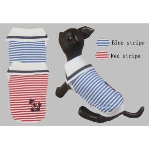 アンカーストライプTシャツ【メール便可】 <犬服 ワンコ>|lamerr