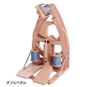 アシュフォード ジョイ ダブルペダル紡毛機 バッグ付き ラッカー塗装 組立済み完成品 <紡ぎ 紡ぎ車 ashford>|lamerr