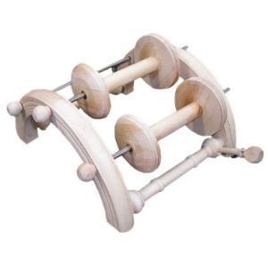 クロムスキー アーチ型ボビン立て 白木 <紡ぎ車 紡ぎ kromski>|lamerr
