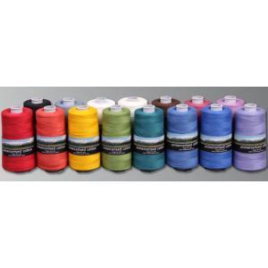 アシュフォード コットン100%糸 100gコーン巻き <手織り 紡ぎ 染め 糸 綿>|lamerr