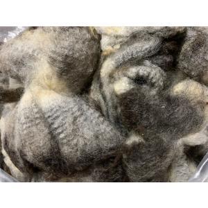 グリージーウール・シェットランド 黒系1.4kg <紡毛 紡ぎ 染め 羊毛 フェルト>|lamerr