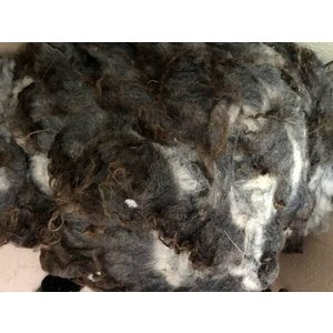 グリージーウール・シェットランド グレー系1.1kg <紡毛 紡ぎ 染め 羊毛 フェルト>|lamerr