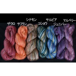 アシュフォード シルク+メリノ スライバー 100g <紡毛 紡ぎ 羊毛 糸 ashford>|lamerr