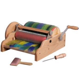 アシュフォード ワイドドラムカーダー ラッカー塗装 <紡ぎ車 紡ぎ カード カーディング ashford>|lamerr
