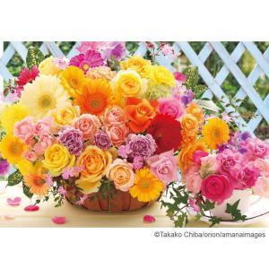 あざやかに咲き誇る可憐で美しい花のジグソーパズルです。完成サイズ「38×26cm」とコンパクトなので...