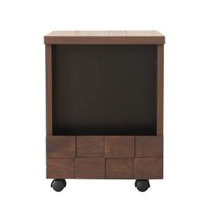 国産 デザイナーズ コルク サイドテーブル  サイドテーブル 木製 電話台 FAX台 幅38cm ブラウン 木 ソファ テーブル おしゃれ 北欧 キャスター|lamp