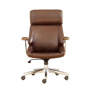 高級感漂うおしゃれなチェア ウィップ デスクチェア ブラウン  パソコンチェア オフィス 椅子 イス レザー 昇降式 キャスター付き ハイバック|lamp