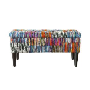 毛糸生地がかわいい ヴォレ L wolle box stool収納スツール インテリア家具 ボックススツール 長椅子 長イス 長いす可愛い かわいい カラフ|lamp