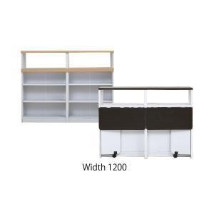 間仕切り 収納 両面収納 幅150 間仕切りキッチンカウンター 150cm幅 収納家具 キッチン収納 食器棚 折り畳み バタフライ テーブル lamp 11