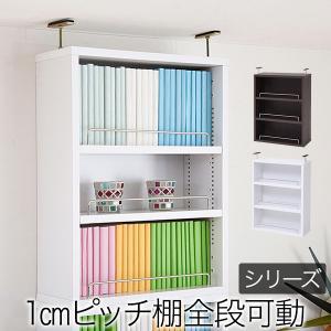 本棚 薄型 オープンラック 上置き 幅41.5 MEMORIA 棚板が1cmピッチで可動する|lamp