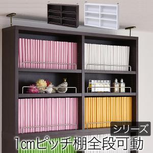 本棚 薄型 オープンラック 上置き 幅81 MEMORIA 棚板が1cmピッチで可動する|lamp