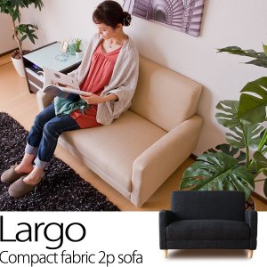 2人掛けコンパクトソファ/Largo(ラルゴ) ソファ sofa ソファベッド ローソファ ソファー カウチソファ 北欧 レトロ モダン 一人掛けソファー|lamp