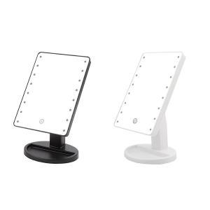 LED 女優ミラー LED16発 全2色 ブラック ホワイト 角度調整 明るさ調整 lamp