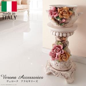 ヴェローナアクセサリーズ 陶製コラムポット イタリア 家具 ヨーロピアン アンティーク風|lamp