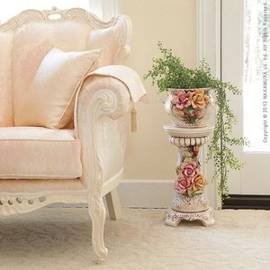 ヴェローナアクセサリーズ 陶製コラムポット イタリア 家具 ヨーロピアン アンティーク風|lamp|02